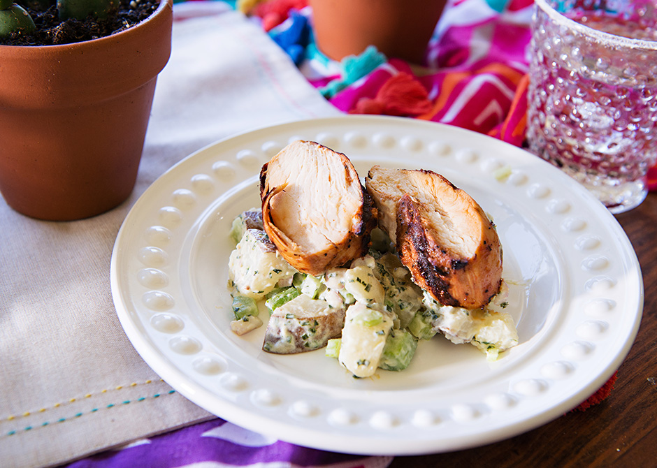 Texas Tumble Chicken and Potato Salad